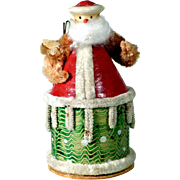Charming Vintage German Container Santa Claus