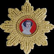 Christmas Ornament Dresden  Cardboard  Princess Olga of Russia