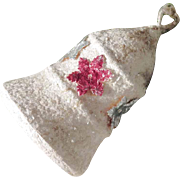 German Christmas Ornament White Spun Cotton Bell