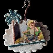 German Christmas Ornament Infant Jesus Venetian Dew