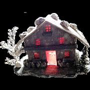 Chalet Light House Christmas Display