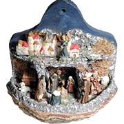 Lovely Crib Creche on Fungus Folk Art