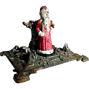 German Tree Stand Santa Cast Iron