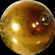 Antique Kugel Christmas Golden Mercury Glass Ornament