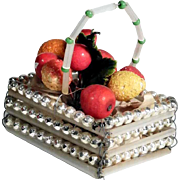 Glass Beads Basket Christmas Ornament