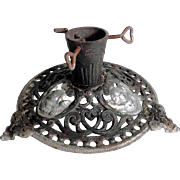 Old German Cast Iron Christmas Tree Stand Putty