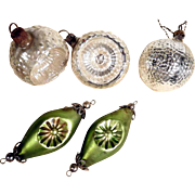 Five Old German Christmas Ornaments