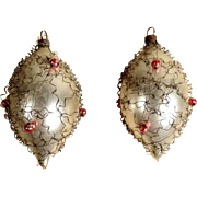 Two Very Old German Christmas Ornaments Leon Wire