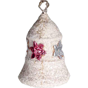 German Christmas Ornament Cotton Bell Dresdner Pappe