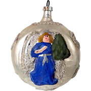 Amazing German Christmas Ornament Angel Hand Painted