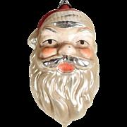 Santa Head German  Christmas Ornament