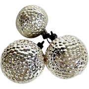 Christmas Ornaments Three Pieces Mercury Glass
