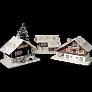 Lovely Putz Houses Christmas Display