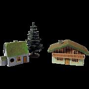 Amazing Wooden Putz Houses Christmas Display