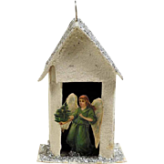 Lovely Old Christmas Ornament Angel Chapel
