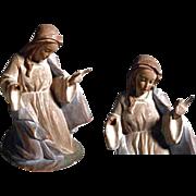 Charming German Santon Creche Praying Mary Hand Carving