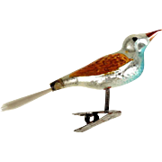 Lovely Mercury Glass Bird on Clip