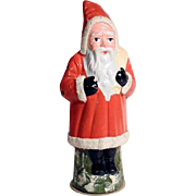 Nice German Belsnickle Santa Papier Mache Candy Container