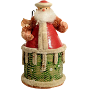 Funny Vintage German Container Santa Claus