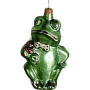 Disappointed Frog Gentleman – Christmas Ornament