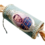 Rare Candy Container Christmas Bonbon Tsar Nicholas II of Russia Dresden Cardboard