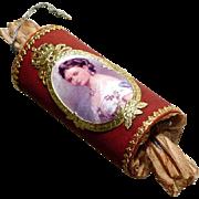 Candy Container Christmas Bonbon Queen Victoria  Dresden Cardboard