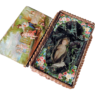 Rare 19th Century Little Comforter Nun Work Devotional
