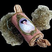 Rare Candy Container Christmas Bonbon Empress Elisabeth of Austria Dresden Cardboard