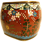 Cloisonné Vase Enamel on Copper Late Qing Dynasty