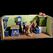 German Farmhouse Cozily MIniature Parlor  Room Box Hand