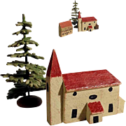 Lovely German Miniature Wooden Putz Houses Doll Village