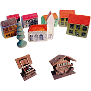 German Miniature Wooden Doll Village Gift  Box Tiniest House 0.8 inches!