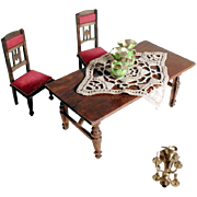 German Wooden Parlor Furnishing Set Vases and Candelabra