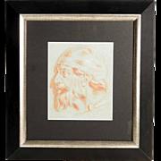 Italian Master Sanguine Drawing of Saint Jerome around 1800