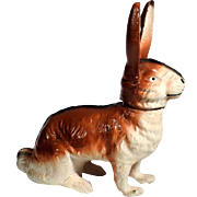 German Candy Container Easter Rabbit Shape Papier Maché ca. 1930