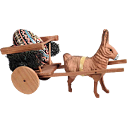 Rabbit with Chariot Container & Painted Easter Egg