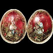 Lovely Easter Egg Dresdner Pappe Display Bunny