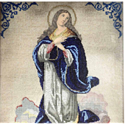 Immaculate Conception Beadwork 1. Half of the 19th Century