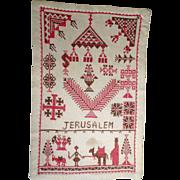 Interesting Sampler Christmas Spirit Jerusalem