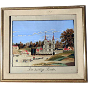 Fantastic Silk Embroidery Holy Linden Tree Basilica Pilgrimage