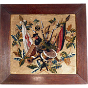 Gorgeous Historical Sampler Beadwork Army 1871