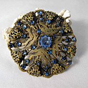 Opulent Costume Brooch – Bohemian Crystal Stones  about 1930