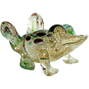 Frog Murano Art Glass Figurine around 1950 – Amazing Colors!