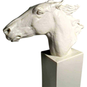 Horse Head Homage to Hannibal, Derby Winner 1890 Rosenthal Manufactory
