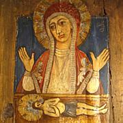 Old Pieta Icon Folk Art ca. 1900