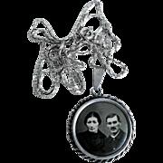 Picture Pendant with Chain Silver ca. 1920