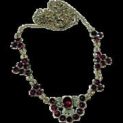 Delightful  Garnet Necklace ca. 1920