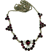 Delightful  Garnet Necklace ca. 1920