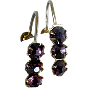 Lovely Amethyst Paste Screw Earrings ca. 1900/20