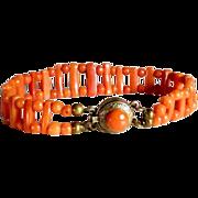 Victorian Era Genuine Coral Bracelet